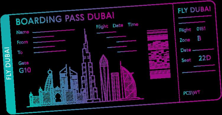 Boarding pass Dubai